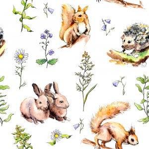 animal illustration wallpaper