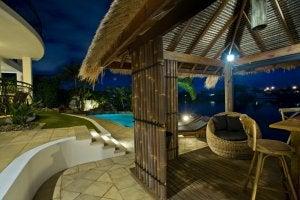 beach bar by pool
