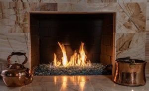 copper accessories for fireplaces