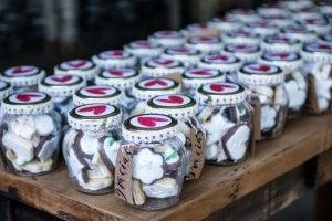 cookies in souvenir jars