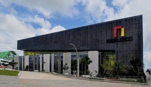 a building with fiber cement sidings