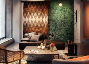rugs on the walls