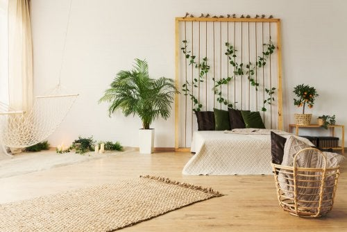 Connect to nature and use earthy colors for a wabi-sabi style decor