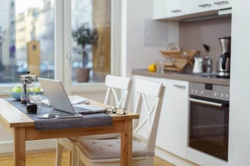 Create a Cozy Office Space in Your Kitchen