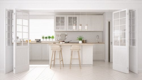 For a wabi-sabi style decor focus on colors such as whites, grays, and maroons, such as those colors found in Scandinavian decor