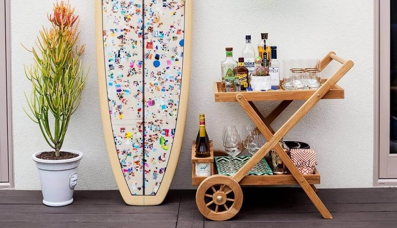 DIY bar cart uses