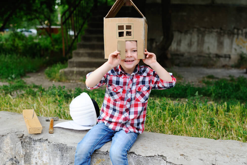 cardboard crafts buildings