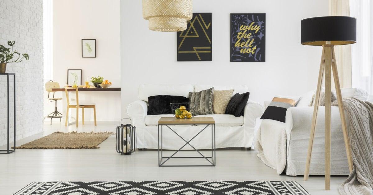 Scandinavian living room order