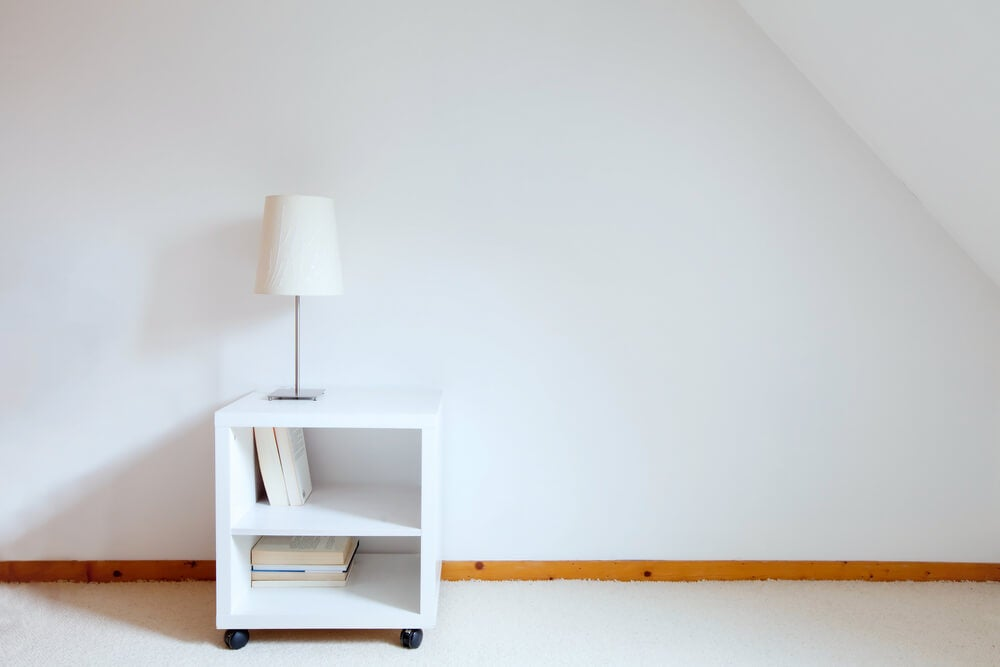 A simple bedside table.