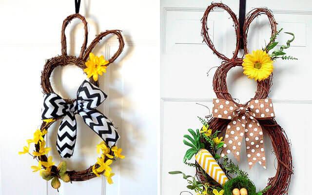 Easter wreaths bunny