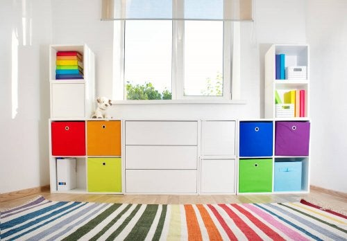 A storage unit perfect for children's toys.