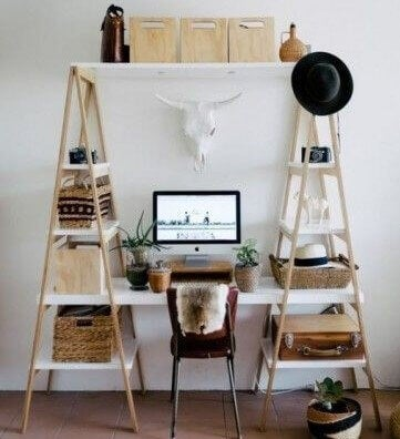 desk spaces ladder