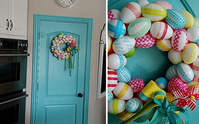 easter wreath easter egg
