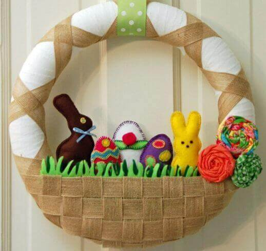easter wreaths fabric
