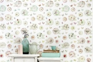 A classic floral wallpaper.