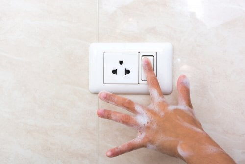 There are various electrical wiring requirements for the bathroom.