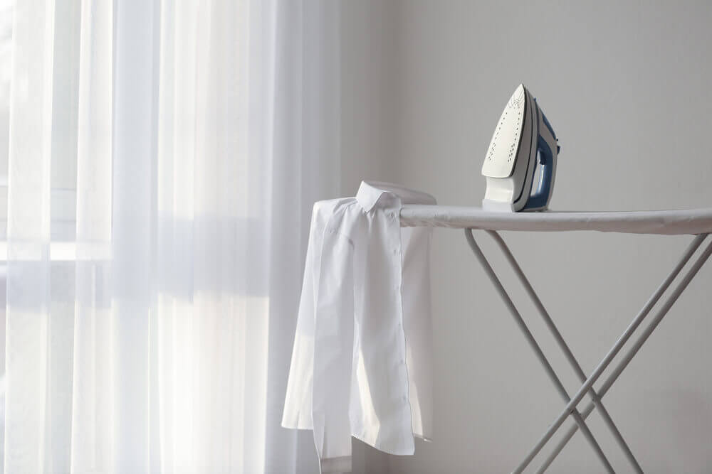 ironing board leaning