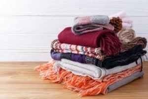 Warm clothing for earthquake kit.