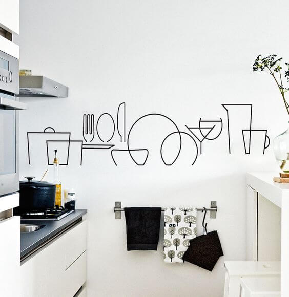 low cost kitchen decor vinyl decal