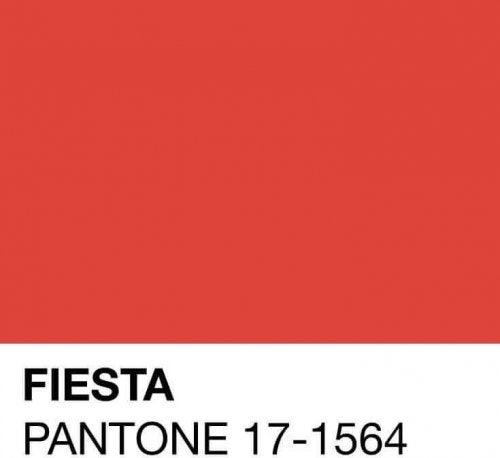 One of the spring Pantone colors is Fiesta.
