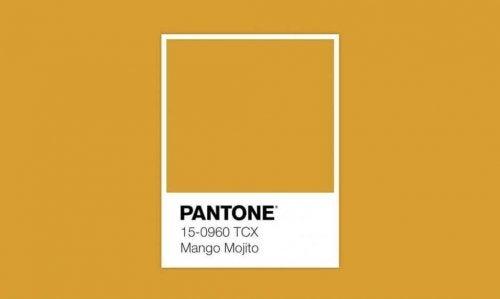 Mango Mojito is yellow.