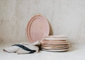 A stack of plates.