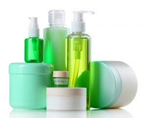 Basic hygiene accessories in bottles for earthquake kit