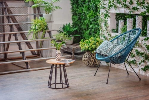 Your terrace can benefit from outdoor furniture.