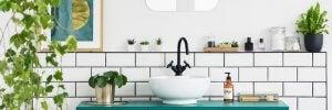 A minimalist bathroom.