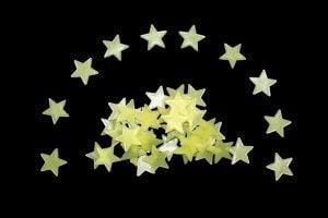 Glow-in-the-dark stars.