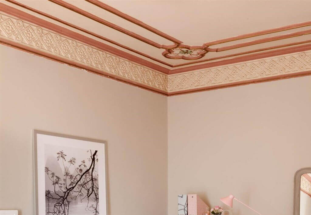 A ceiling with layers to add depth.