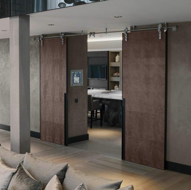 Interior sliding doors go well with many decor styles.