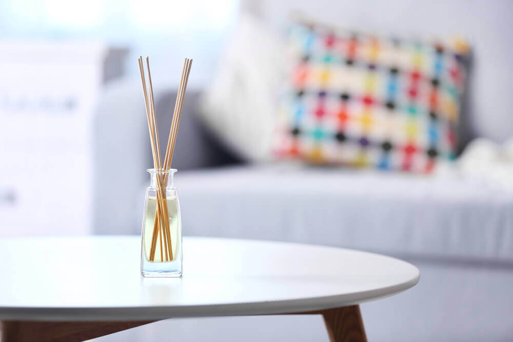 A mikado reed diffuser for home aromatherapy.