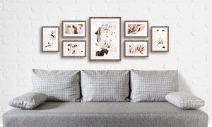 Multiple frames give a more adult look to a home.