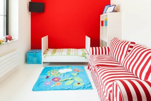 Using Red to Decorate Children's Bedrooms