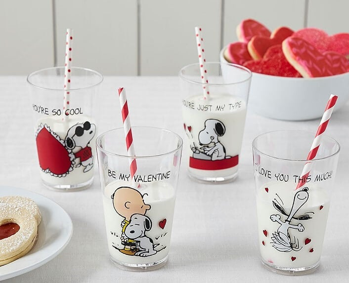 Snoopy and Peanuts cups from Pottery Barn