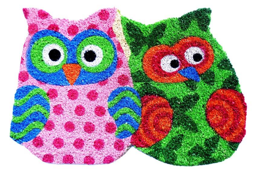 welcome mat owls
