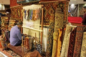 Hand-woven rugs.