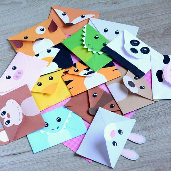 envelope crafts animals