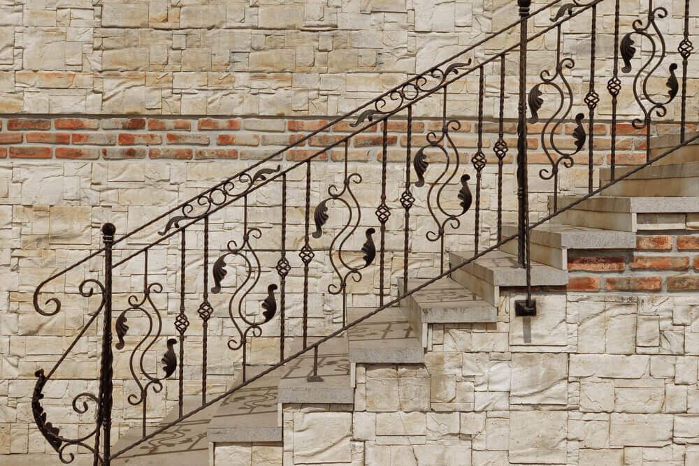 iron stair railings botanic