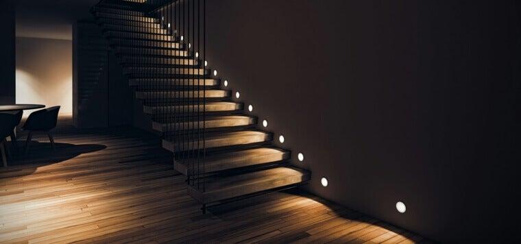lighting stairs open stairs