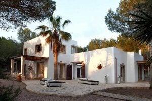 A Spanish Mediterranean style home.