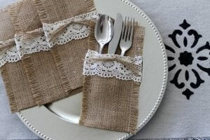 Cutlery wraps.