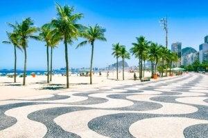 Burle Marx designed the Copacabana Boardwalk in Rio de Janeiro.