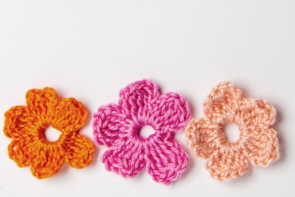 crochet flowers examples