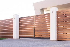 Four types of wooden fences.