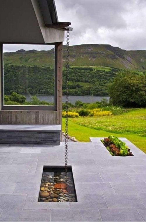 A beautiful terrace.