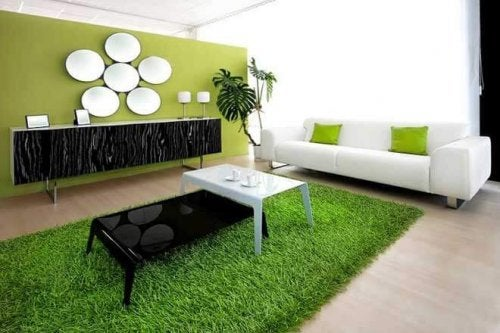 A nature-inspired grass rug.