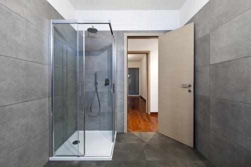 An open shower.