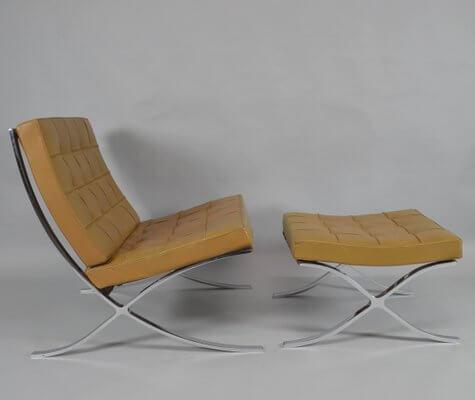 A Barcelona chair.